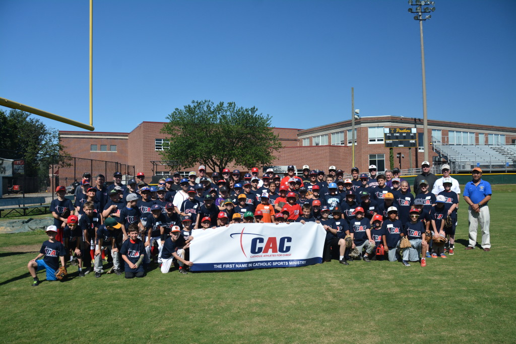 More than 80 campers participated in the first CAC Catholic Baseball Camp in Fairfax, Va.